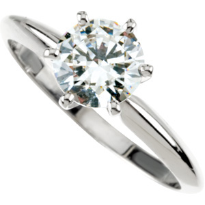 1.00ct brilliant cut diamond solitaire engagement