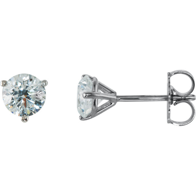 1.00ct pair Black Friday Promo Suds in three prong martini settings