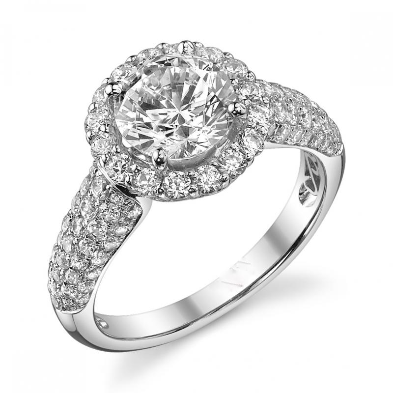 2.00ct total weight 18kt white gold diamond engagement ring