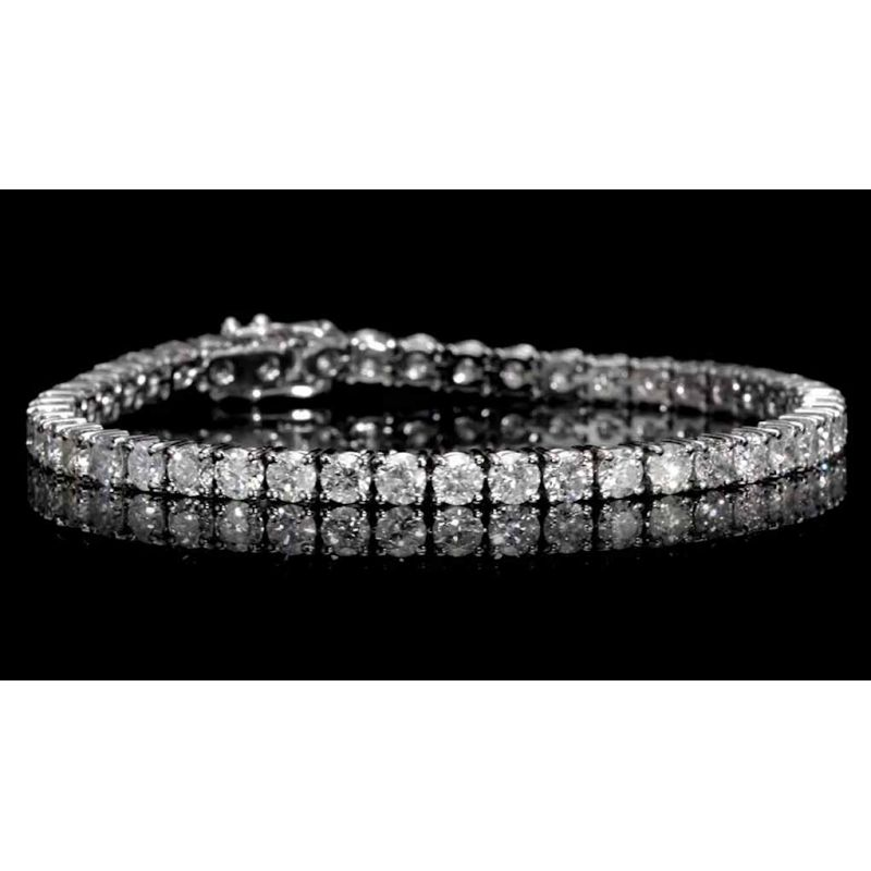 6.80ct Diamond Tennis Bracelet 18kt Italian gold