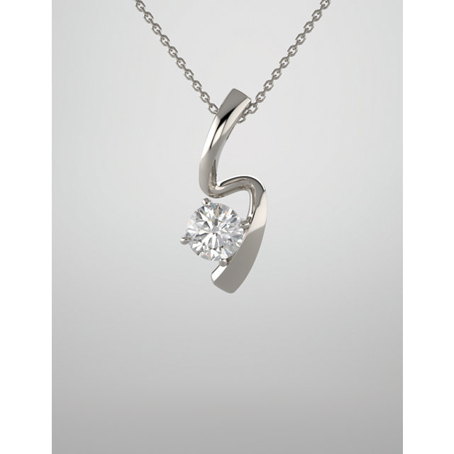 Modern diamond Pendant