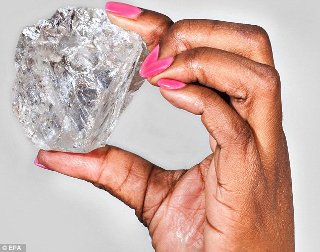 Recent large diamond discovery 2015